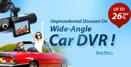 Capture all the action on the road with wide-angle car dvr! Up to 28% off for all car dvr gadgets from mini car dvr to dual lens car dvr. Want more cool car dvr, come here.